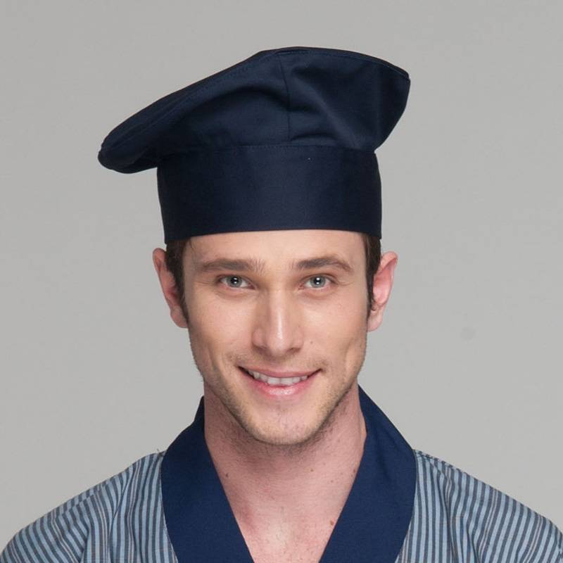 Unisex Poly Cotton Dark Blue Color Chef Hat U404S1200A Featured Image