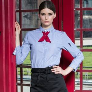 Polyester Cotton Classic Long Sleeve Slim Fit waitress uniform Shirt CW1056C154000H