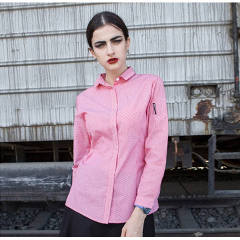 Polyester Cotton Classic Long Sleeve Slim Fit waitress uniform Shirt CW1056C155000H Featured Image