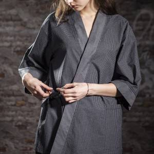 Japanese Style Medium Sleeve Cross Collar Kimono For Restaurant And Hotel CU1118Z124123AR