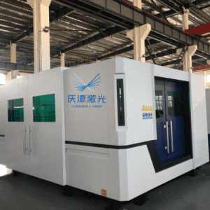 3KW 1500x3000mm fiber laser cutting machine with cover