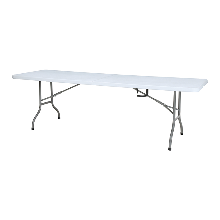 2018 cheap white durable 8ft plastic folding table for outdoor use