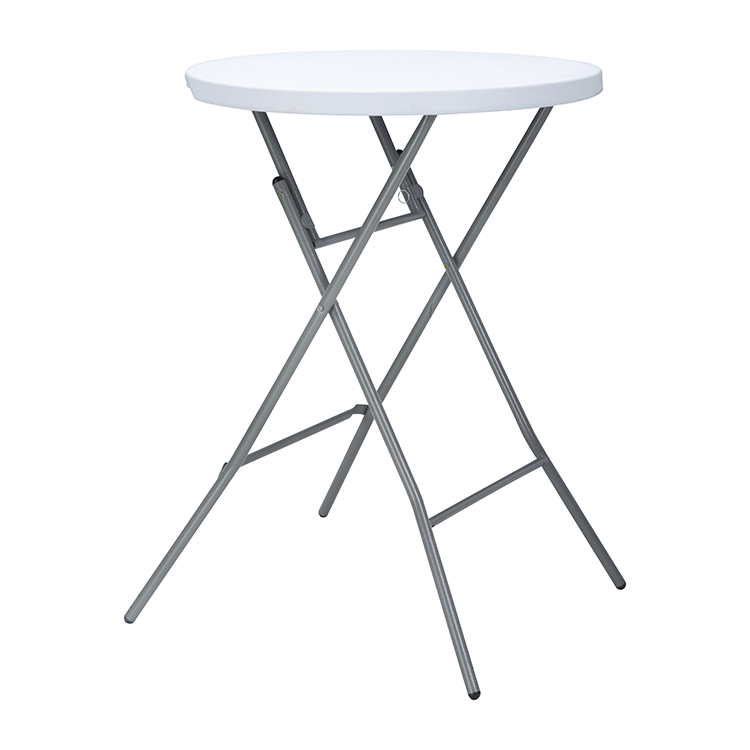 Cheap Outdoor Portable Commercial Party bar Folding Plastic White Round Cocktail Table for picnic coffee