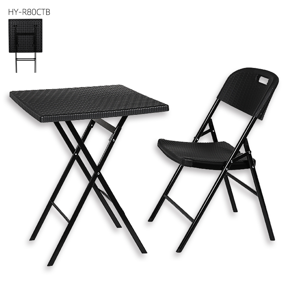 hot sale dining plastic folding side change wicker coffee rattan table chair for comfort