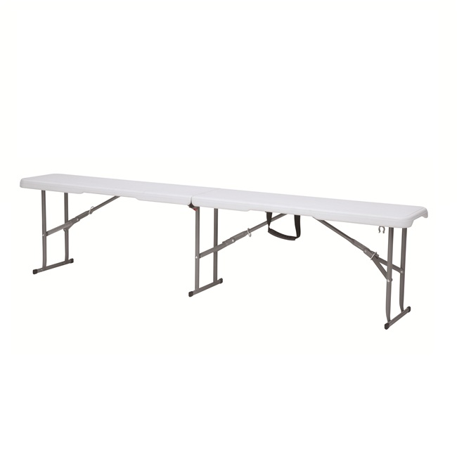 good quality outdoor and indoor HDPE plastic white folding bench for garden