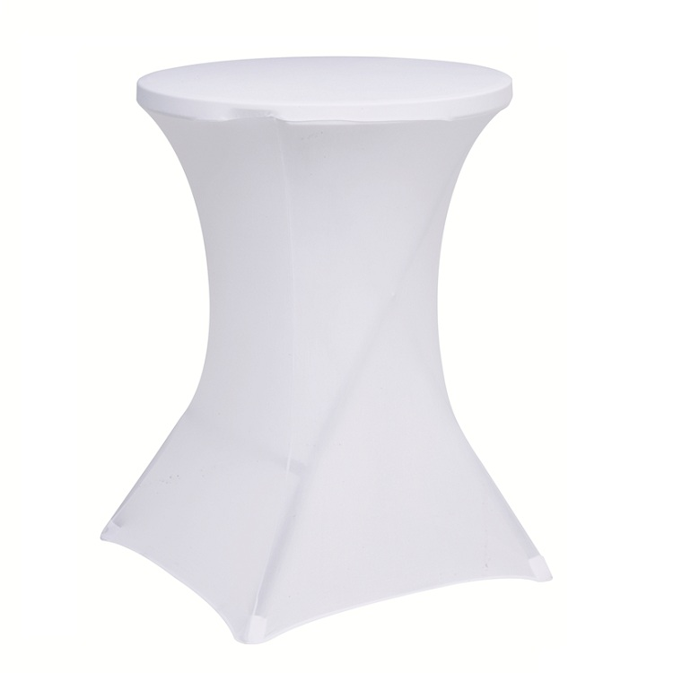 spandex cocktail table cover for wedding or ban...