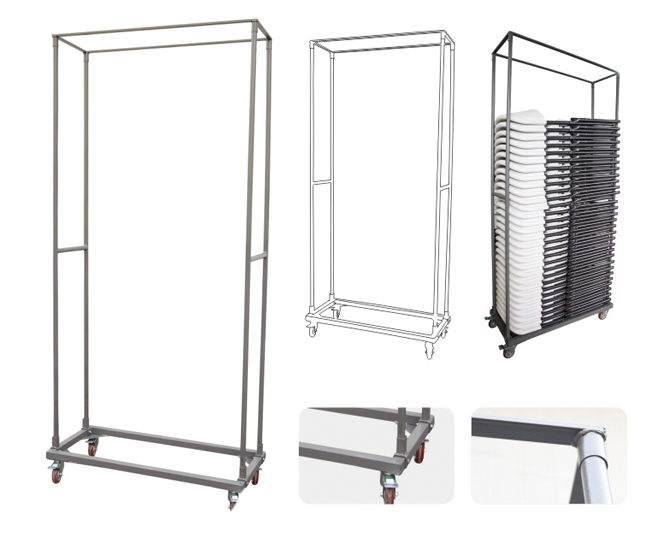 folding chair trolley for hotel using