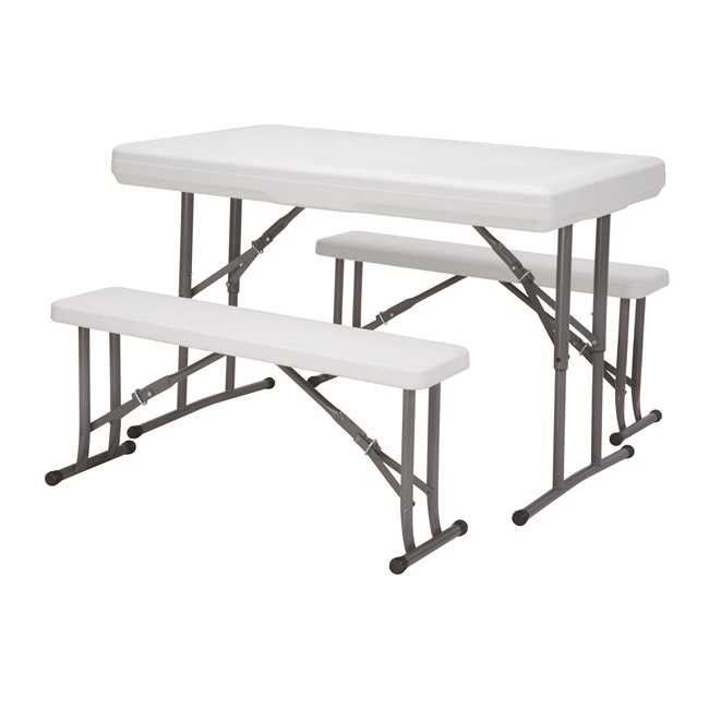 popular outdoor and indoor HDPE plastic folding dinning table  beer and picnic table
