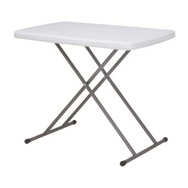 Trestle Table white  blow mold personal folding table adjustable table Height Adjustable