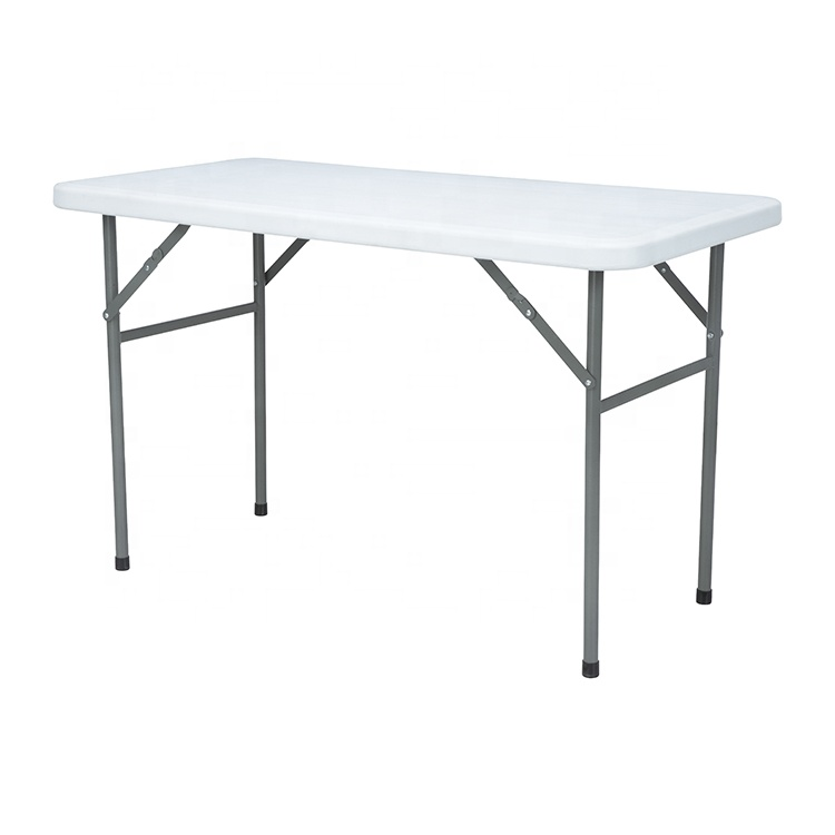 Outdoor portable 4ft rectangle picnic camping dining plastic folding tables manufacturers for parties
