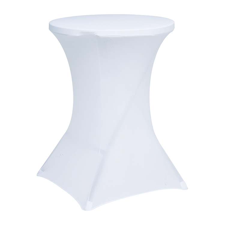 hot sales inflatable wedding spandex chairs and tables elastic fitted standing tablet table cover table cover