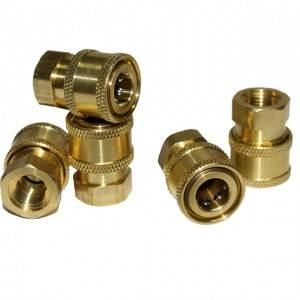 High pressure washer hose fittings
