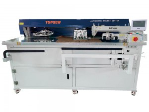 Automatic Kangroo Pocket Setting Machine TS-199-6730