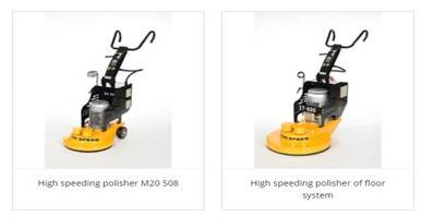 What is the difference between the grinding machine and the high-throwing machine in the floor construction