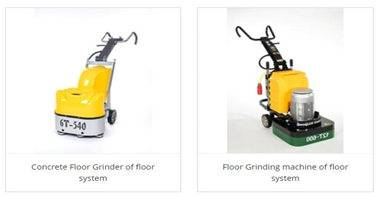 How to use the floor grinder to deal with the floor paint before construction