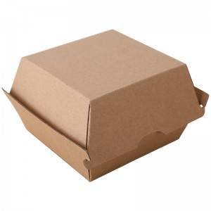 Corrugated Disposable Fast Food Burger Box