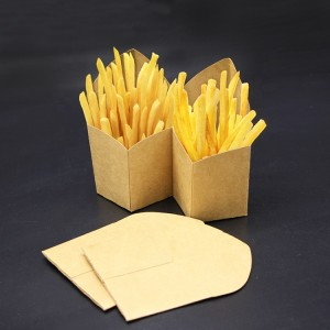 Disposable Craft Paper French Fries Box