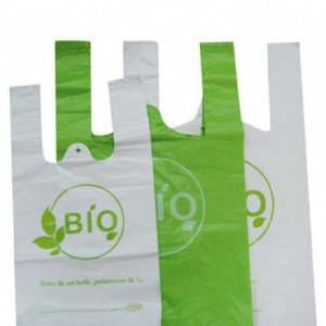 Biodegradable PBAT PLA Cornstarch Shopping Bag