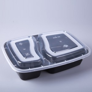 Two Compartment Plastic Food Container