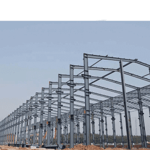 Galvanized Steel Structure Warehouse large span workshop prefabricated building low cost steel frame industrial shed