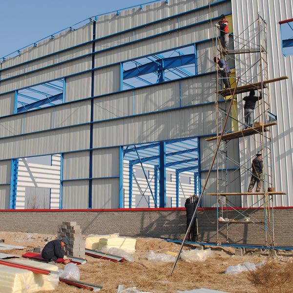 Prefab steel structure warehouse shed