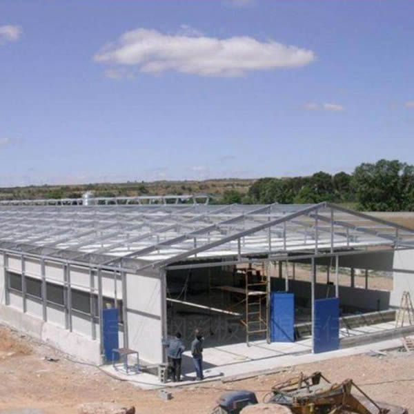 Prefab Steel Structure Building Cow Shed Farm Steel Cow Shed