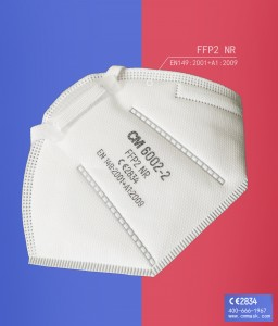 6002-2 CM Mask Particle Filtering Half Face Mask with CE FFP2 Disposable Dust Mask