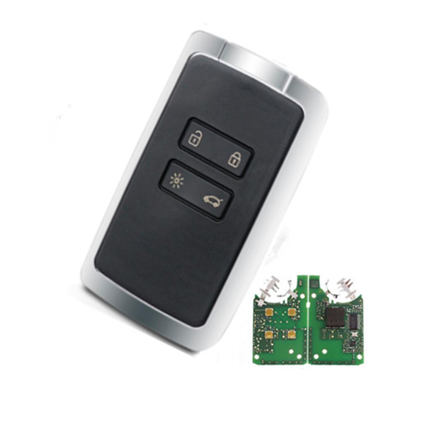 Smart Car Key 4 button keyless remote key 434mhz Hitag AES 4A chip for renault megane 4 Keyless car key Featured Image