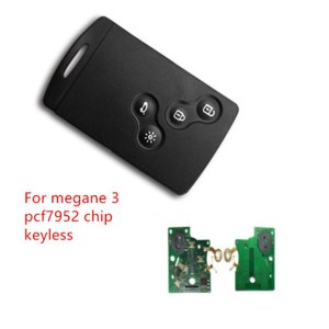 4 button Smart key megane 3 pcf7952 card 434mhz for Renault Megane 3 key 2009-2014