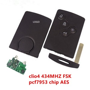 smart key 4 button keyless Remote key 433mhz hi...
