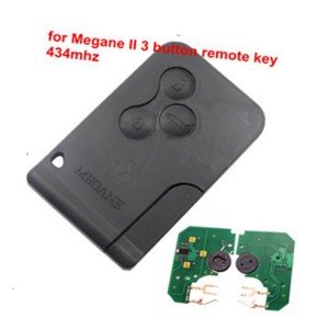 3 Buttons 433Mhz ID46 PCF7926 PCF7947 Chip Emergency Smart Remote car Key For Renault Megane key 2 Scenic Card II Grand