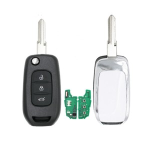 3 Button flip remote key PCF7961 AES 4A chip-434MHZ for Renault Captur/Megane 3/twingo car key