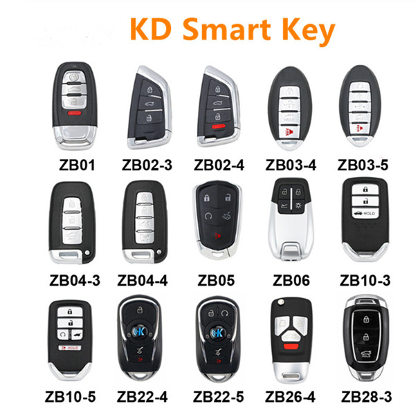 KD ZB Smart Key ZB01 ZB02 ZB03 ZB04 ZB05 ZB06 ZB10 ZB22 ZB26 ZB28 Keyless go Remote Car Key for KD KD-x2 Featured Image