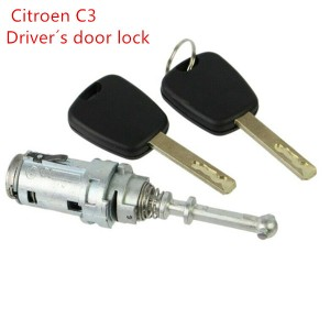 For Peugeot door lock/For Citroen C-Triomphe/C3 Car Left Door Lock Cylinder/Locks Accessories For Lock