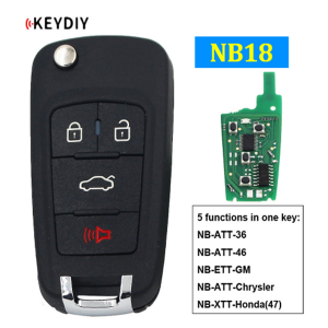 NB18 Multi-functional Universal Remote Control Car Key for KD900 KD900+ URG200 KD-X2 NB-Series Remote (All Functions Chips in)