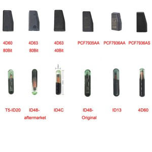wholesale price 4D60 4D63 T5 ID48 ID4C ID13 PCF7935AA PCF7936AS  ID70 ID8E T5 4C G ChipBlank Transponder Car Key Chip