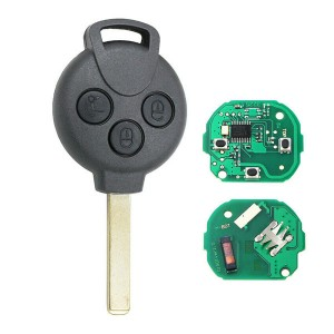 3 Button 4 button Remote Key 315Mhz ID46 PCF7941 Chip for Mercedes-Benz Smart For two 451