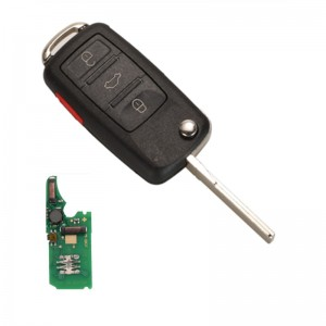 4 buttons flip remote smart key PCF7945A HITAG 2 46 chip 315Mhz 433MHz for VOLKSWAGEN VW Touareg 2002-2010