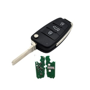 Semi Intelligent Remote Key 3 Button Folding Flip car key ID48 chip 315mhz 434mhz  8P0837220DFor Audi A3 TT