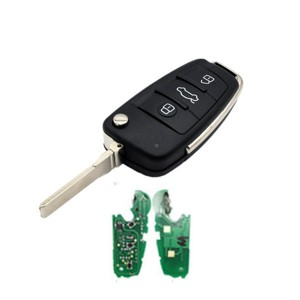 Audi A4 3 button remote key 433MHz ID48 Flip Remote Car Key Fob 8E0837220Q 8E0837220K 8E0837220D