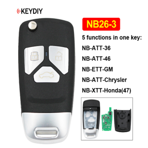 NB26-3 3 Button Multi-functional KD Remote Control NB Series for KD900 KD900+ URG200 KD-X2 (All Functions Chips in One Key)