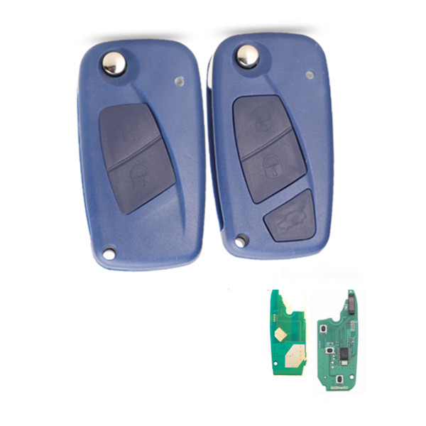 BLUE colour 2/3 Button Remote Key 434mhz pcf7946 id46 chip For Fiat Punto Ducato Stilo Panda Featured Image
