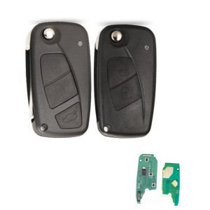 black colour 2 / 3 Buttons 433Mhz PCF7946  Chip Flip Remote Control Auto Key For Fiat 500 Fiorino Qubo Panda Idea Punto Stilo Ducato