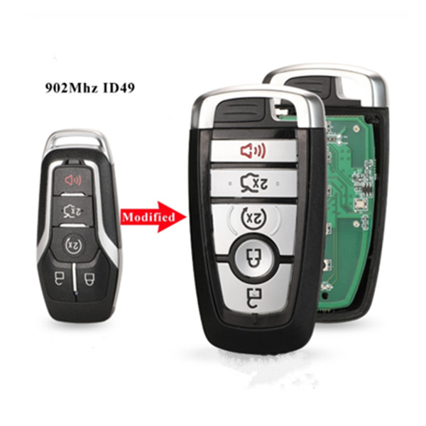 Keyless Remote Smart Prox key 902Mhz ID49 for Ford Fusion Explorer Edge Mustang 2017 2018 Upgrade Featured Image