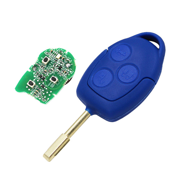 3 Button blue remote key Remote Car Key 434MHz 4D63 ID63 Chip For Ford Transit blue remote key (after market) Featured Image