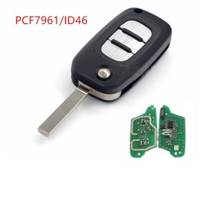 2/3  Buttons Car Remote Key 434MHz PCF7961(HITAG2) ID46 Chip for Renault Clio 3 Kangoo Master Modus Twingo