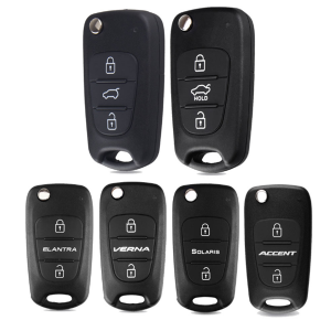 3 Button Flip Remote Auto Car Key Shell For Hyundai I20 I30 IX35 I35 Accent Solaris Elantra santa fe For Kia cerato ceed
