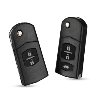 2/3 Buttons Remote Key Blank Case Folding Flip Remote Key Shell Replacement Case Fob PAD For MAZDA 2 3 5 6 RX8 MX5 2B