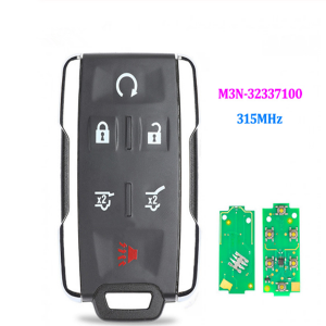 Keyless Entry Remote Control Key 5+1 Button 315MHz for Chevrolet Silverado Colorado GMC FCC: M3N32337100 M3N-32337100