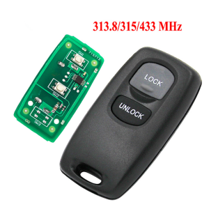 2 Button Remote Control Key Fob 313.8MHZ 315MHZ 433MHZ for Mazda M6 model no visteon 41840